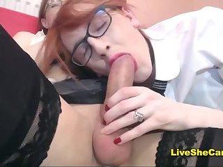 Cute travesti couple blowjob webcam