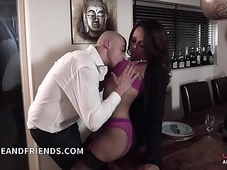 EXCLUSIVE! Veronica Havenna fucks ass guy in kitchen and cum in his face!