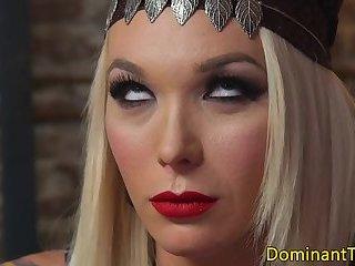 Busty transgender anal fucking muscular hunk