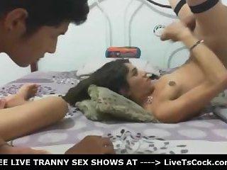 Horny Tranny Fucked so Hard by Her Lover
