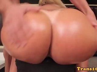 Busty Big Ass TS Gets Fucked