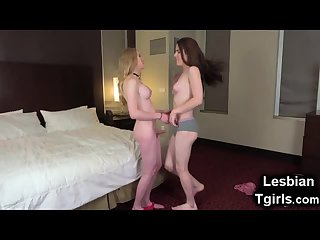 Tgirl Take Cares of Her Teen Trap GF!