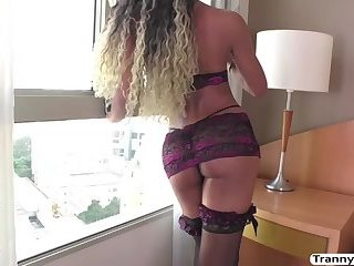 TS Yanka Meirelles gets her round ass penetrated by Alexs cock