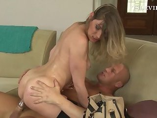 Shemale hooker rides cock
