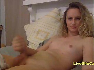 Beauty blonde big cock tgirl Cam