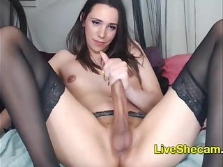 Big cock shemale live jerking