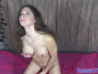 Bigtit russian tranny masturbating solo