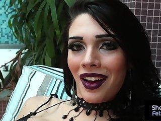 Big boobs shemale Grazi Cinturini smoking and teasing
