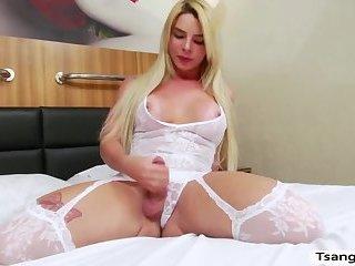Tgirl Carol Penelope gets her juicy ass slammed by Spencers cock