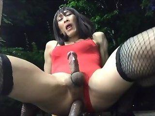 Japanese Crossdesser Cum
