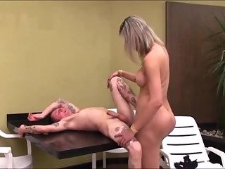 Compilation 004 - Shemale Fucks and Creampie Guy Condomless