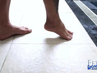 Sexy Rosey P and Her Perfect Shemale Feet