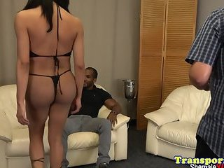 Busty trap gets her asshole IR drilled