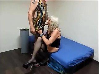 crossdresser fucked in corset and suspender belt