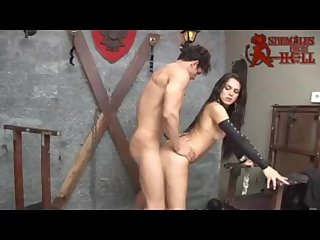 Brunette awesome shemale mickelly fucked