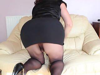 Milf CD pantyhose butt