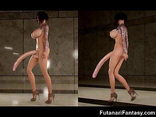 3D Selfsuck Futa Cum Everywhere!