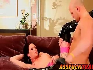 Busty shemale Morgan Bailey loves fucking with Christian
