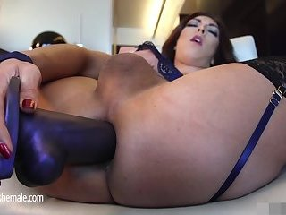 Kendra Plays with Dildo then gets real cock
