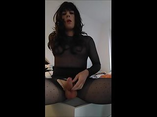 Sissy jerks off with ruined Orgasm