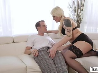 Tgirl Isabella gets big ass smashed by Chads hard dick
