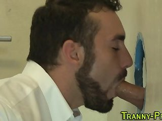 Busty tranny whore fucked
