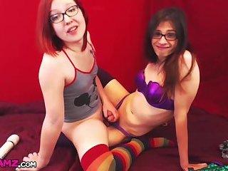 Miss tgirl Robo and tgirl friend cum play Online