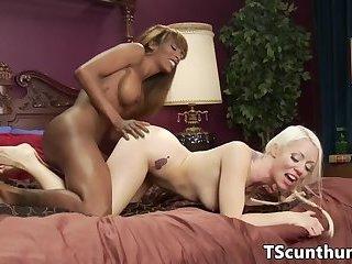 Busty ebony transgender jizzing milfs tits