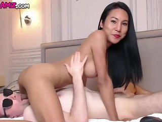 Ladyboy Thippy mutal blowjobs on Cam