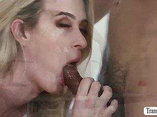 Tgirl Nikki enjoys wild anal doggystyle with stud Gabriel