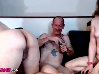 Orgy two shemales and old guy fun Online