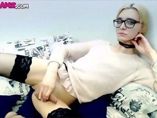 schoolgirl blonde Tgirl cumming Online