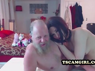 shemale with an old guy