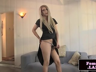 Real femboy beauty fingers herself