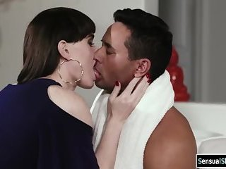Trans Natalie Mars confronted by her stepson and gets her ass fucked