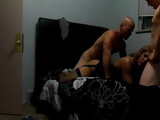 Alexia St James, tag teamed by two guys