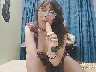 young and beautiful colombian shemale playing with dildo - Angeles del Mar