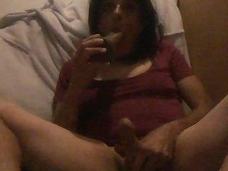 cock hungry tranny masturbates
