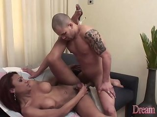 Exotic Shemale Gislaine Rodrigues Gets Her Asshole Filled with Man Meat