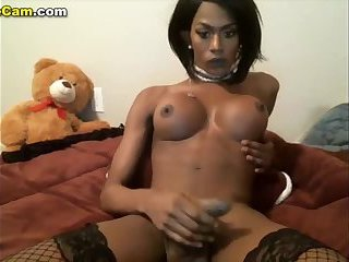 Most sexy black shemale monsterdick Cam