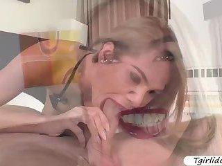 Alluring Transbabe Vivi Isobelle enjoys hard ass fucking