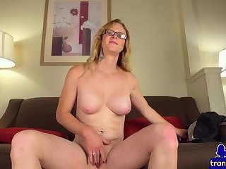 Postop babe rubbing and toying new pussy