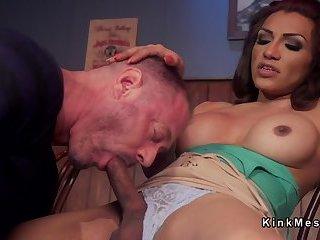 Huge dick tranny anal fucks husband