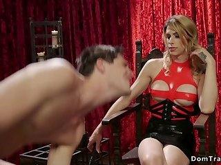 Huge tits tranny brutal anal fucks male
