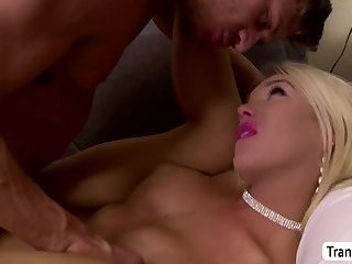 Gorgeous Busty Transbabe Aubrey gets her ass penetrated