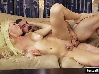 TS babe Aubrey gets her ass rammed