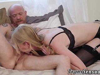 Tgirl licks trans man