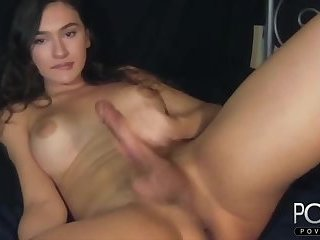Beauty big tits femboy big dick cumshot