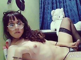 Hot teen colombian shemale handjob and cum - Angeles del Mar