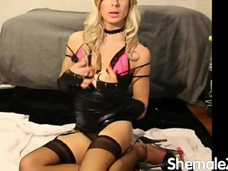very hot blonde crossdresser